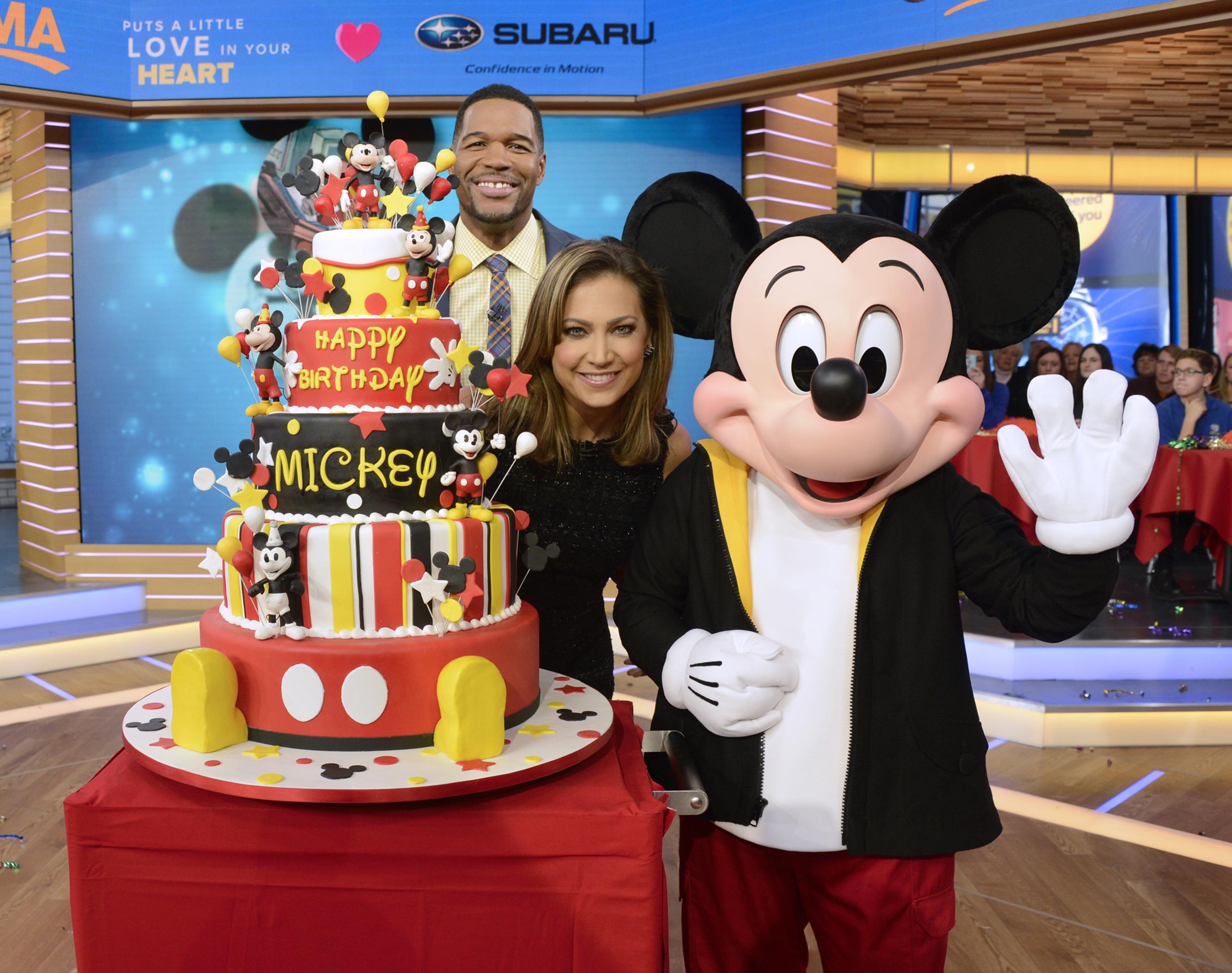 Mickey Mouse Birthday Cake On Good Morning America