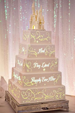 Disney Wedding Cakes Come to Life with Image-Mapping ...