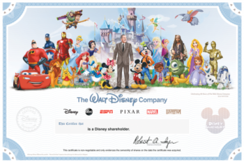 New Disney Shareholder Certificate Celebrates Nine Decades of The Walt Disney Company