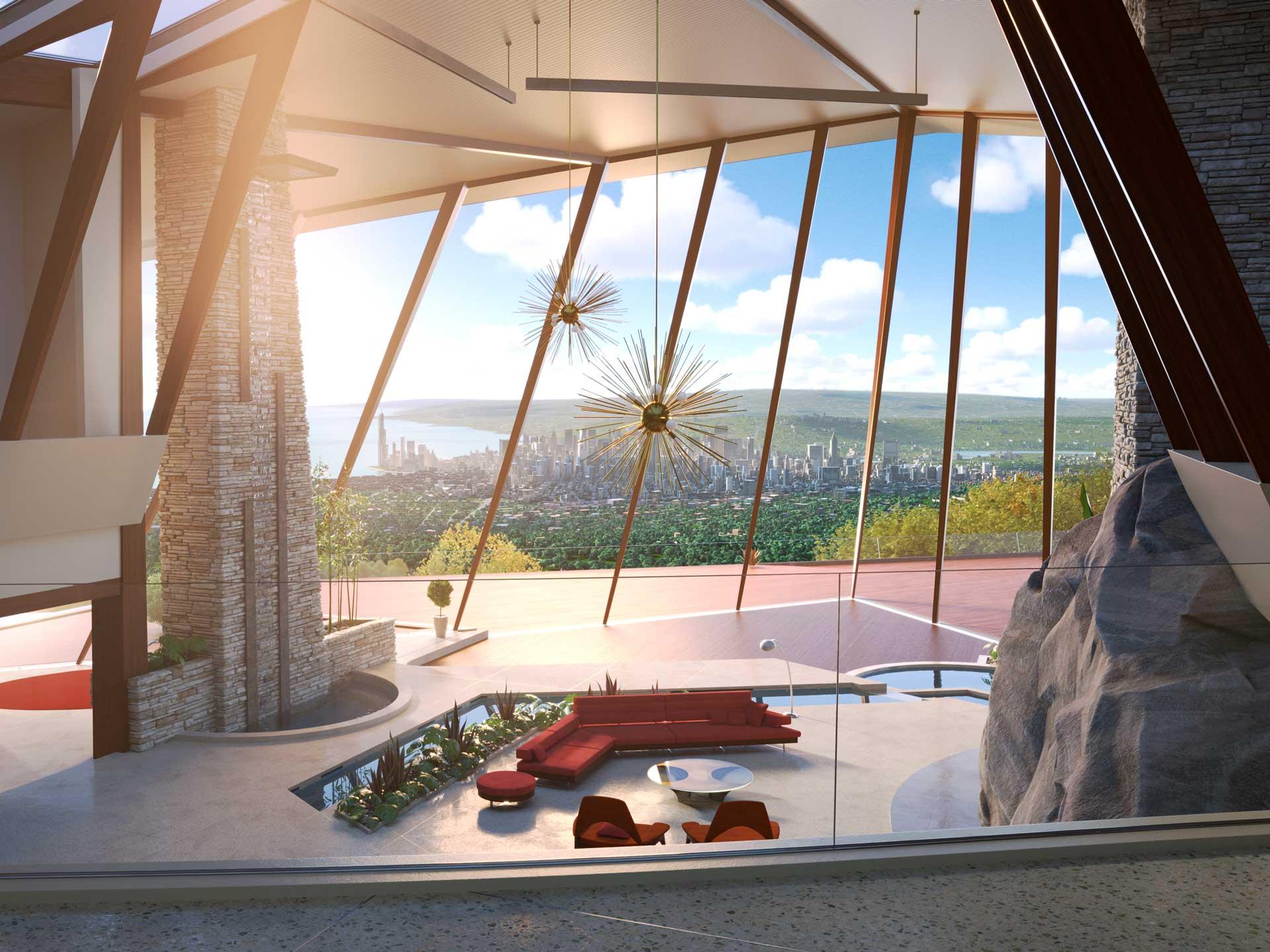 modern incredible living room | Disney•Pixar's 'Incredibles 2' Embraces its Unique Mid ...