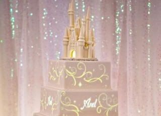 Disney Wedding Cakes Come to Life with Image-Mapping Technology