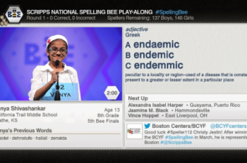 Enhanced ESPN 3 and WatchESPN Coverage of Scripps National Spelling Bee Lets Viewers Test Their Skills