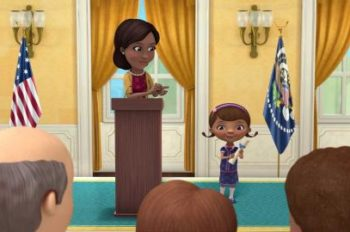 First Lady Makes Special 'Child Health Day' Appearance on 'Doc McStuffins'