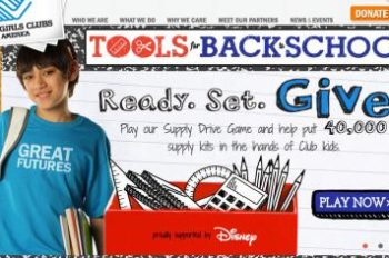 Disney Sponsors Boys & Girls Clubs of America School Supply Drive