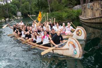 Disney Employees Participate in Canoe Races Around the World