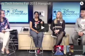 Disney Professional Interns Discuss Their Key Role in Technology Projects and Innovation