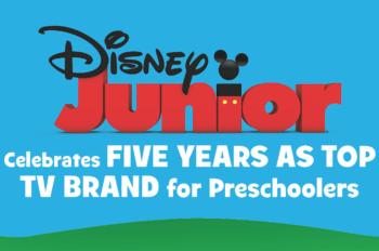 Disney Junior Celebrates Five Years as Top TV Brand for Preschoolers