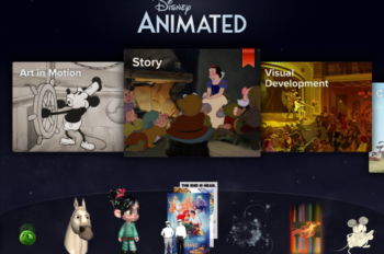 Disney Animated App Brings 90 Years of Animation to Life Through Power of the iPad