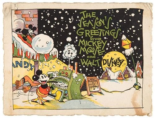 A Look Back At Disney Corporate Christmas Cards The Walt Disney Company