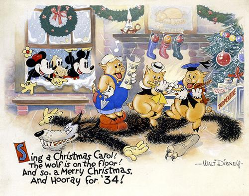 Disney Christmas Cards.A Look Back At Disney Corporate Christmas Cards The Walt